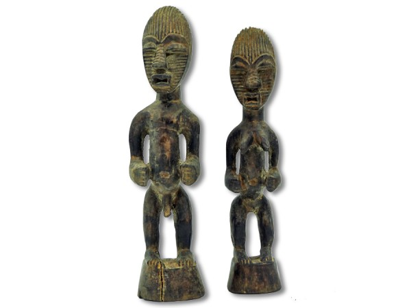 Paar der Songye, DR Kongo/Afrika 24cm