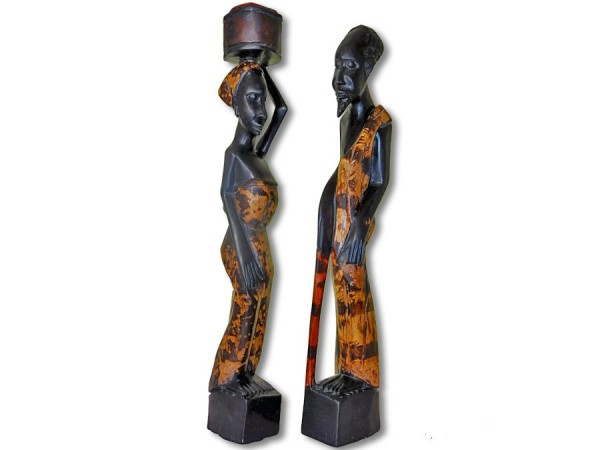 Paar Mann / Frau Afrika 47cm