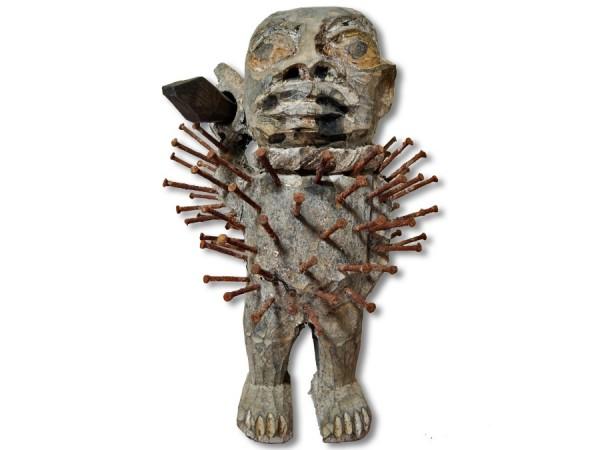 Nagelfetisch der Bakongo 16cm
