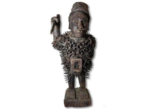 Bakongo Nkisi Figur DR Kongo Africa/ Afrika 80cm