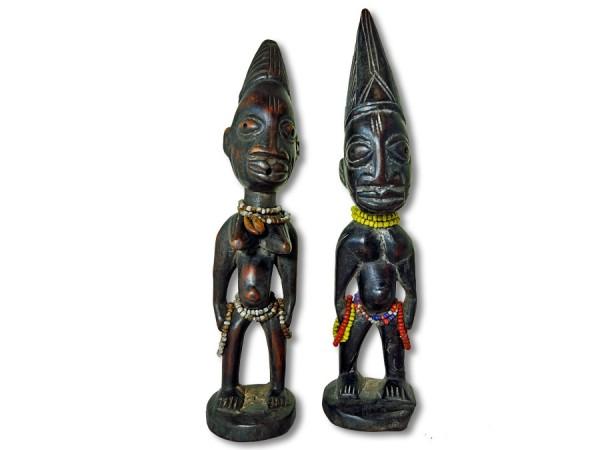 Figuren der Ibeji Nigeria/Afrika 28cm