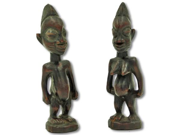 Figuren der Ibeji Nigeria/Afrika 20cm