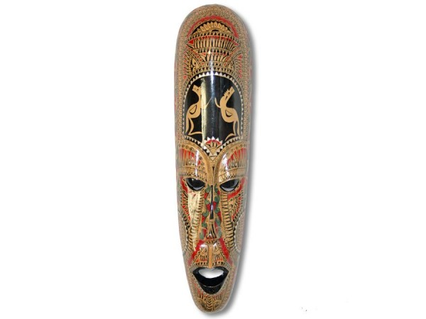 Holzmaske, Lombockmaske schmal, 50cm