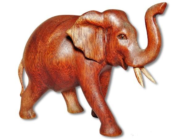 Elefant Soarholz laufend 16cm