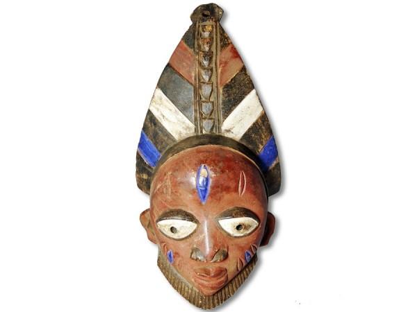 Afrikanische Maske der Yoruba 39cm