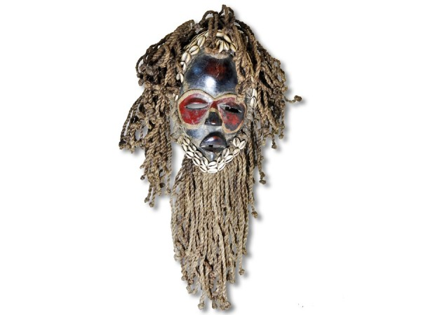 Maske der Dan Ivory Coast/ Afrika 40cm