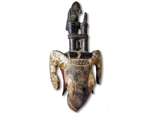 Baule Widdermaske Ivory Coast/Afrika 44cm