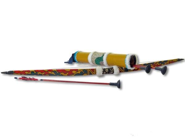Pfeil und Bogen, Kinderbogen-Set Bambus 70cm
