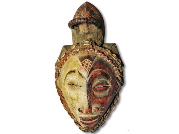 Afrikanische Maske der Punu 32cm