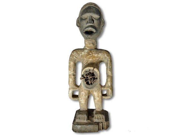 Zauberfetisch der Nkisi DR Kongo/Congo Afrika 49cm