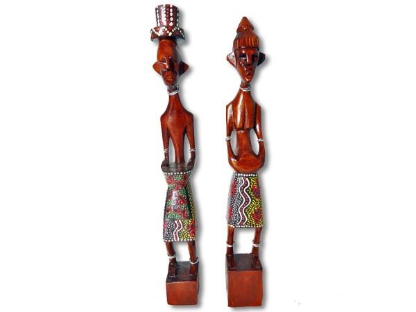 Figuren-Paar Afrika Style 25cm