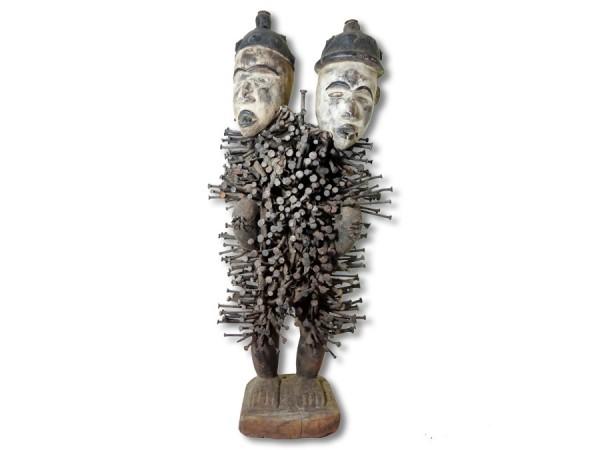 Nagelfetisch der Bakongo, Kongo/Afrika 60cm