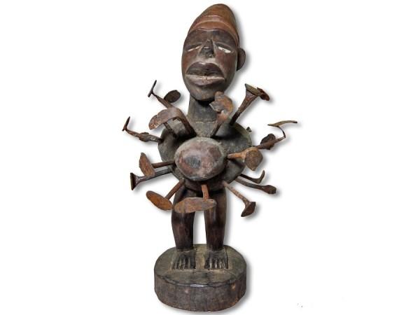 Alte Nkisi Figur DR Kongo Africa/ Afrika 34cm