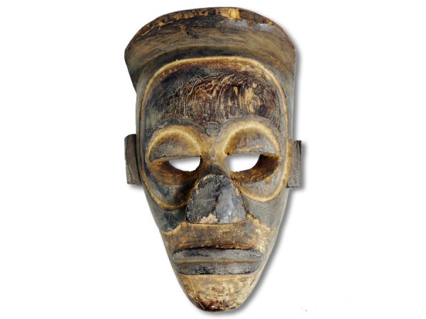 Chokwe-Königsmaske, Kongo/ Angola 32cm