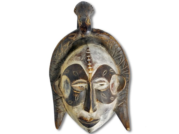 Afrikanische Holz Maske Ibo Nigeria 38cm