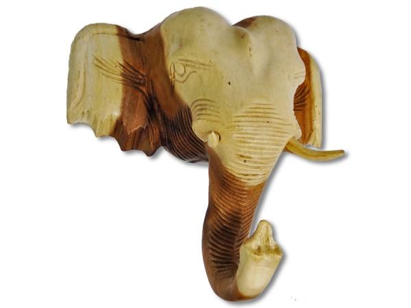 Elefantenkopf / Elefantentrophäe Akazienholz