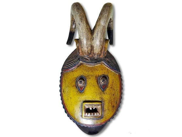 Baule Hornmaske Afrika 42cm