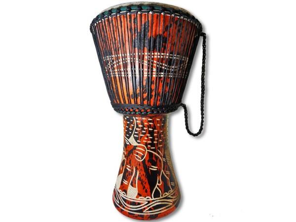 Djembe Trommel Ghana 63cm orange