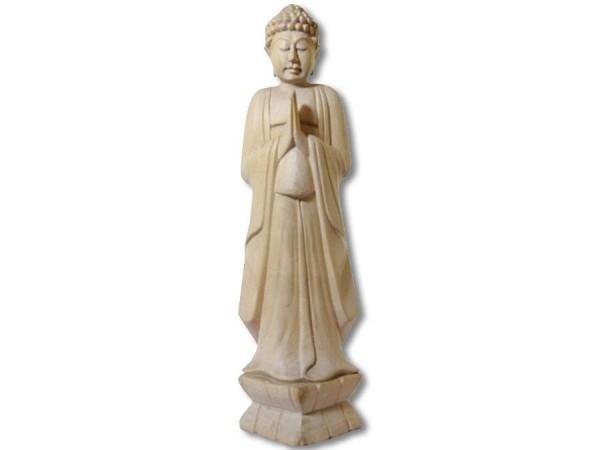 Buddha Statue stehend Knubbelhaare 35cm