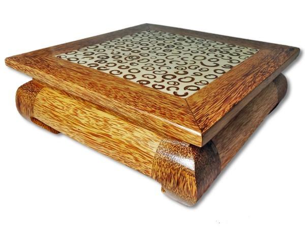 Opiumtisch / Beistelltisch Kokosholz 30x30x12cm