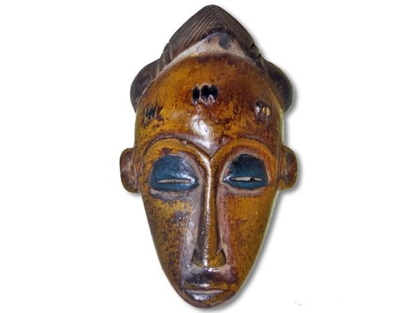 Maske der Baule Elfenbeinküste/ Afrika 18cm