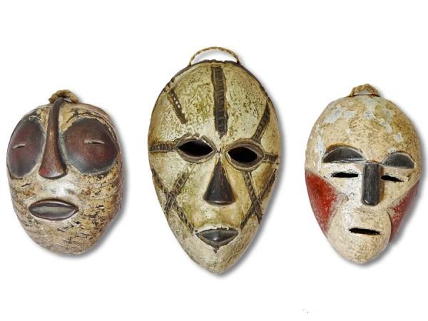 Masken Set Afrika 16cm
