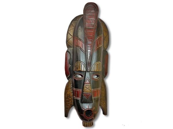 Maske / Afromaske Abeziaholz 40cm Kopf & Ohrschmuck