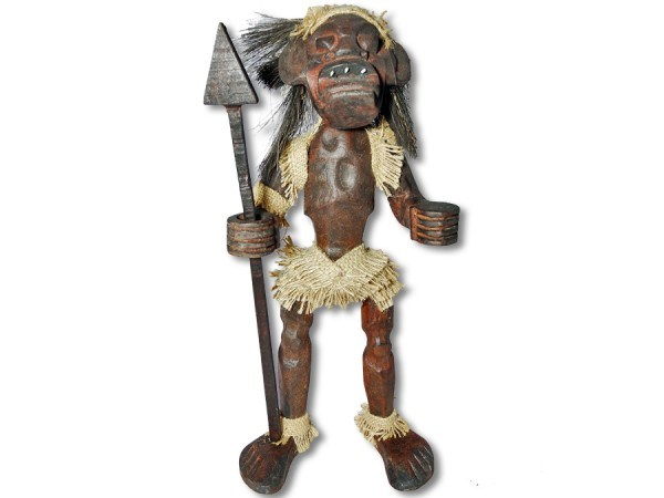 Asmat Holzfigur aus Indonesien 44cm