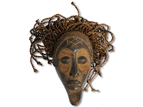 Chokwe Maske DR Kongo/Congo Afrika 32cm