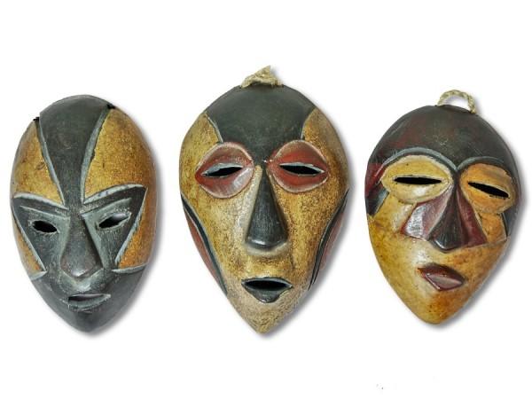 Masken Set Afrika 14cm