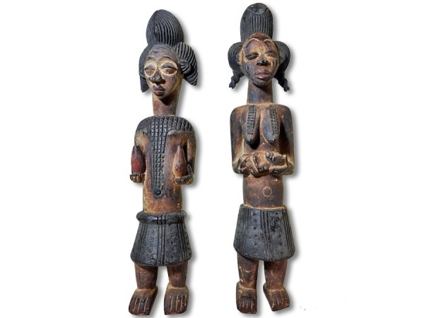Punu Paar Gabun Africa/ Afrika 53cm