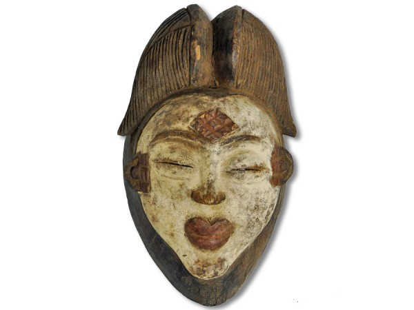 Maske der Punu Gabun/Afrika 31cm