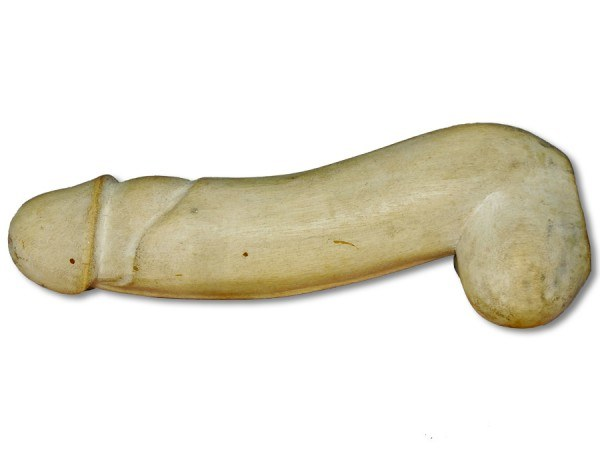 Holzpenis / Phallus aus Crocowood 20cm