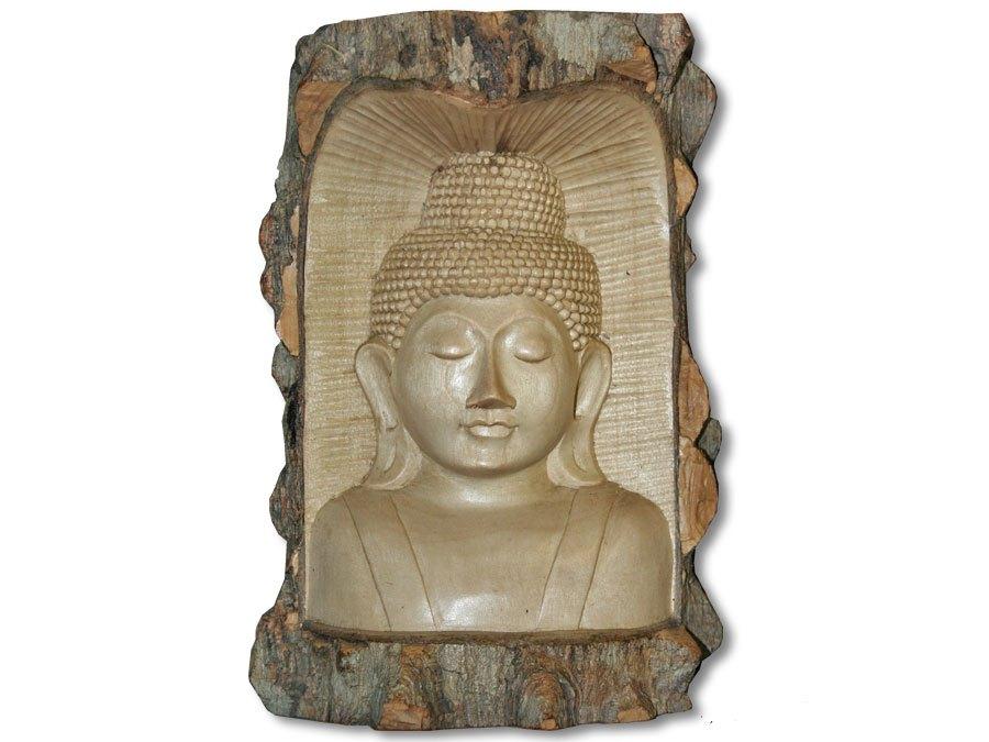 buddha b ste im rindenstamm 20cm kaufen. Black Bedroom Furniture Sets. Home Design Ideas