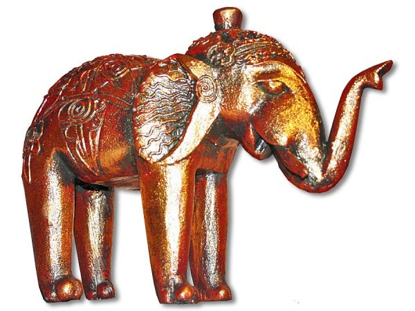 Elefant stehend Rüssel oben 29cm