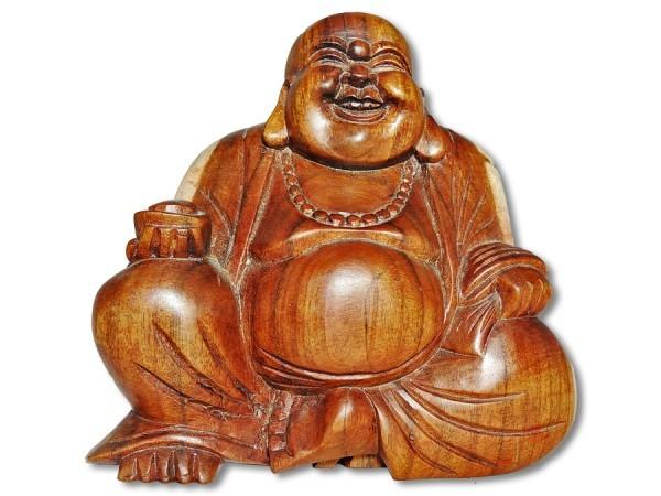 Buddha Lotussitz kahlköpfig 16cm