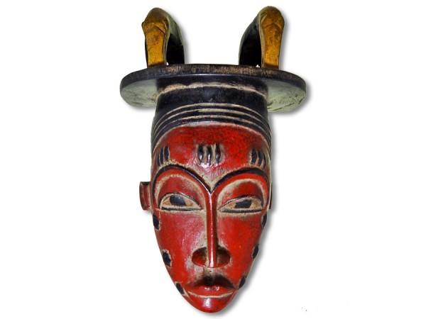 Baule Maske Afrika rot 30cm