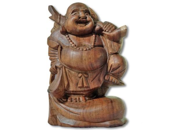 Dicker Buddha mit Geldsack 20cm