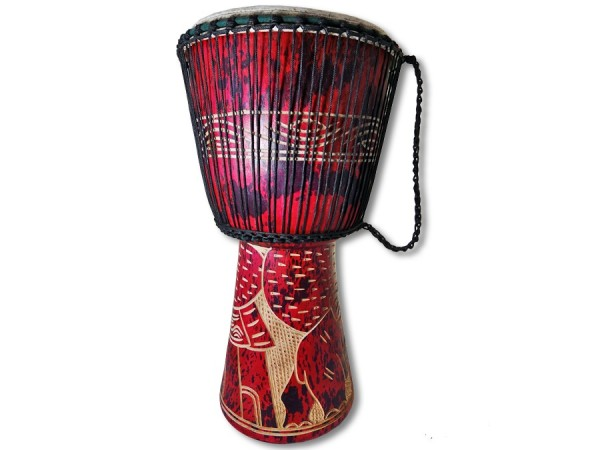 Djembe Trommel Ghana 63cm rot
