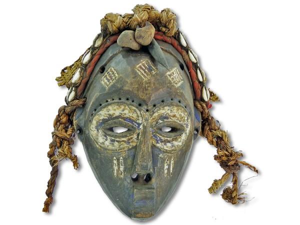 Chokwe Maske DR Kongo/Congo Afrika 24cm