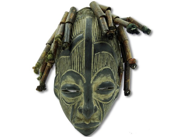 Maske der Chokwe DR Kongo/Congo Afrika 36cm