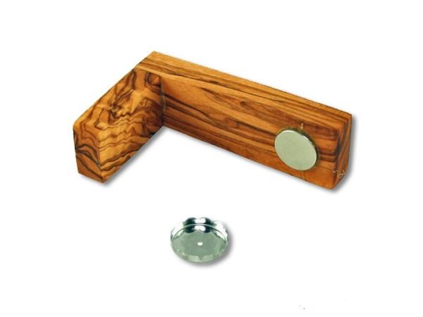 Magnetseifenhalter aus Olivenholz 9cm