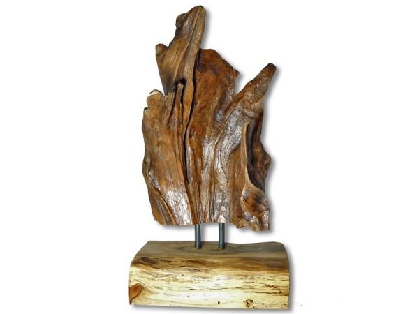 Treibholz, Wurzelholz Skulptur Teak 40cm