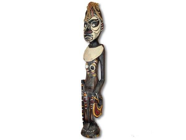Papua-Wasserträgerin Statue 48cm