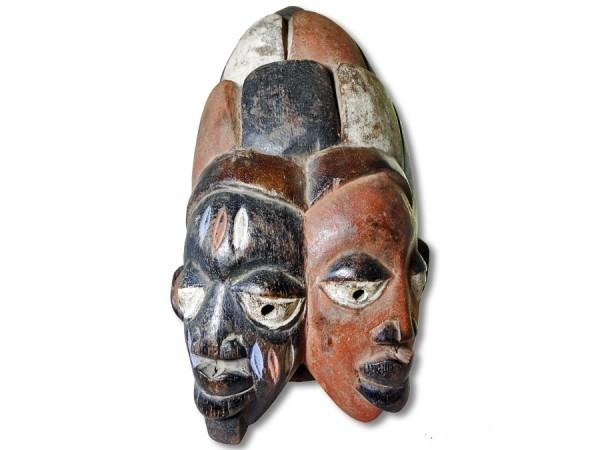 Yoruba Doppelgesicht Maske Nigeria/Afrika 32cm