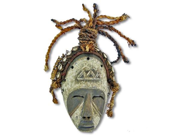Maske der Ibo, Nigeria/Afrika 26cm