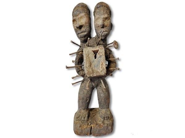 Zauberfetisch der Nkisi DR Kongo/Congo Afrika 30cm