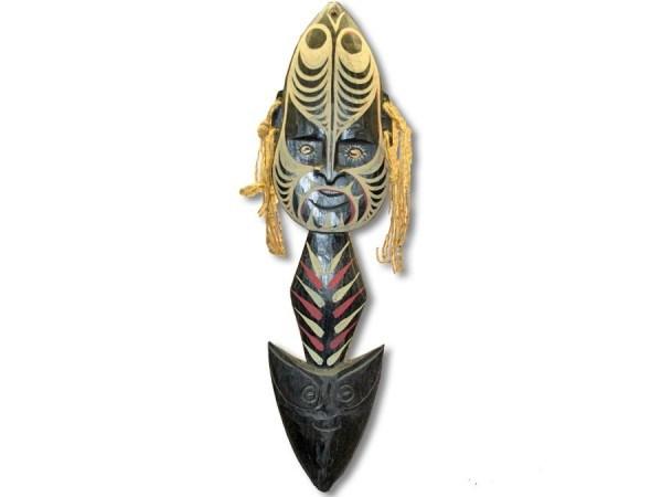 Papuamaske Speer, 50cm